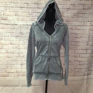Gray weathered hoodie